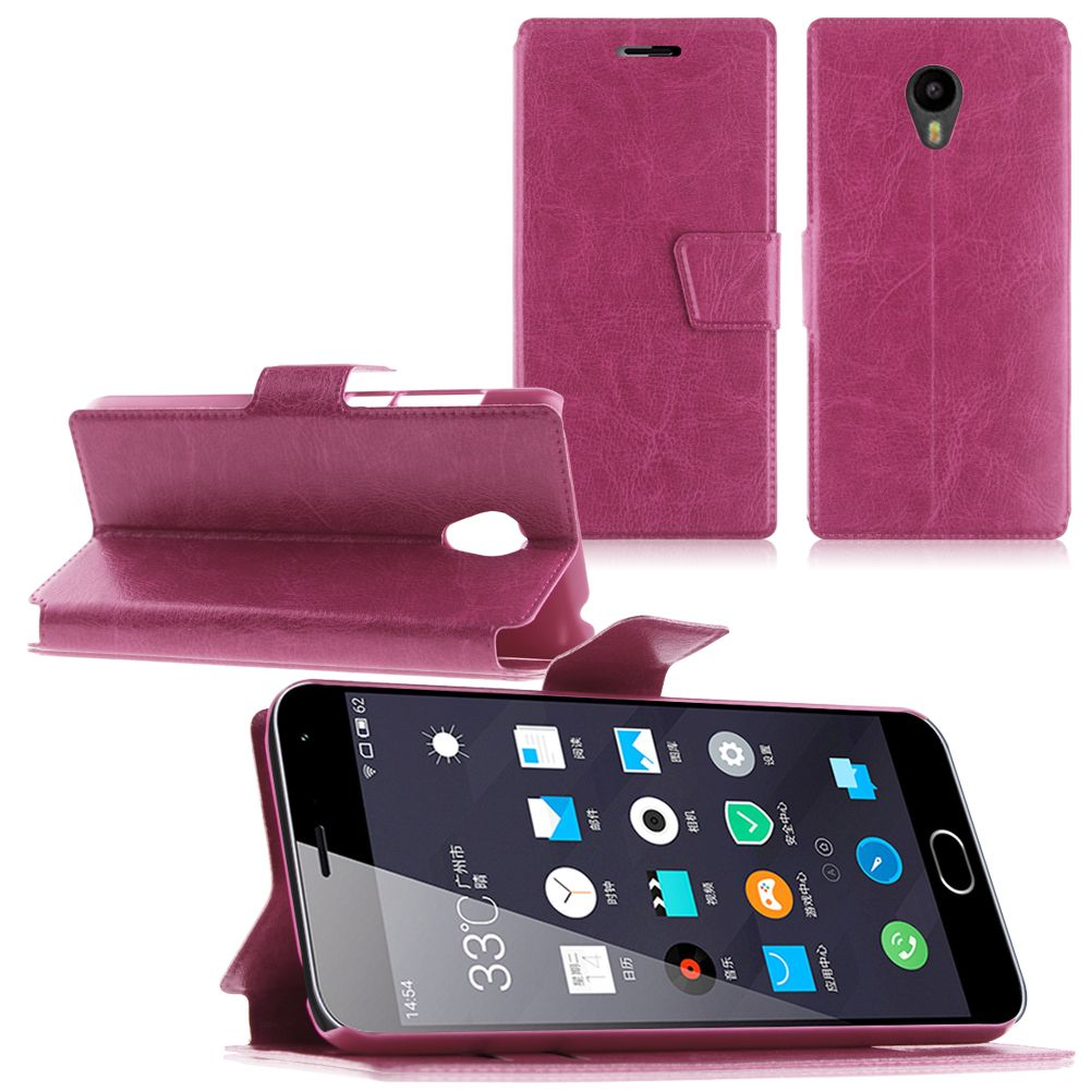 """Luxury Flip Leather Stand Wallet Case Cover w/ Card Holder For 5.0"""" Meizu m2"""