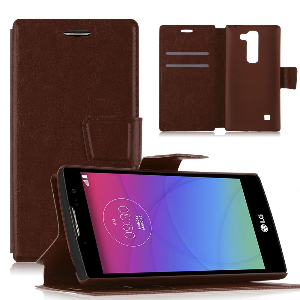 Magnetic Flip PU Leather Wallet Case Cover Stand For LG ...