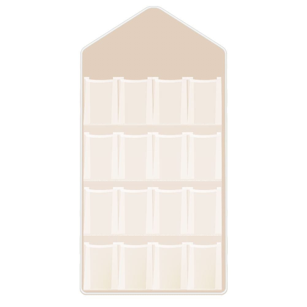 16 pockets clear over door hanging storage bag shoe rack for Door organizer