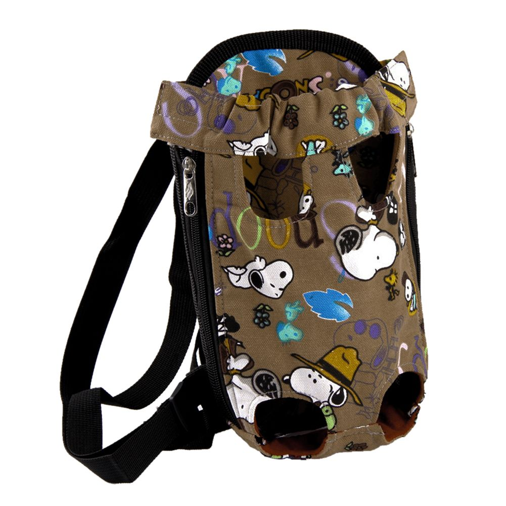 Canvas Rucksack Puppy Pet Dog Travel Backpack Front