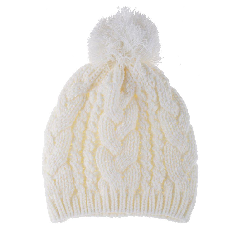 New Fashion Winter Warm Women Men Knit Ski Beanie Ball ...