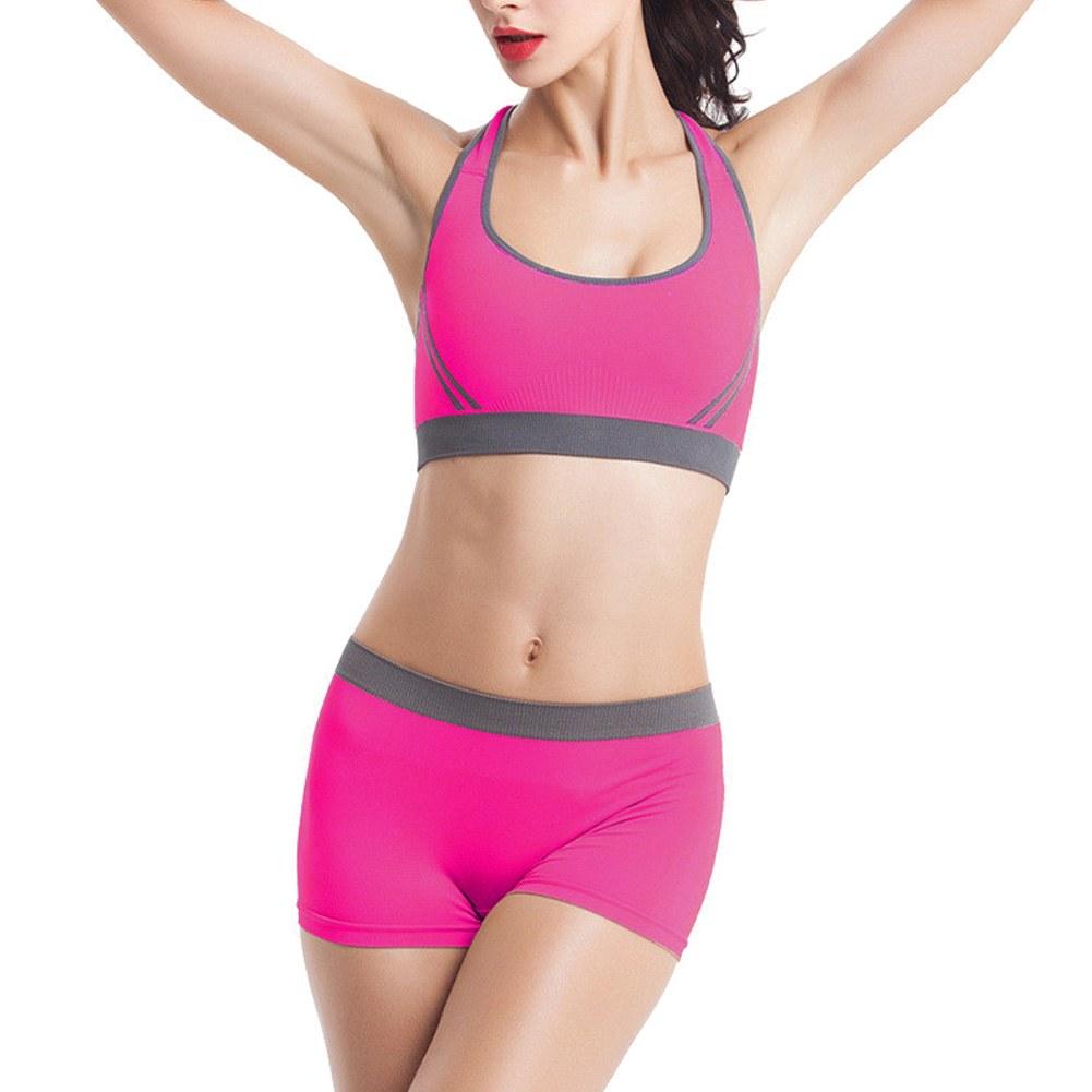 Women Seamless Racerback Sports Bra Set Yoga Fitness