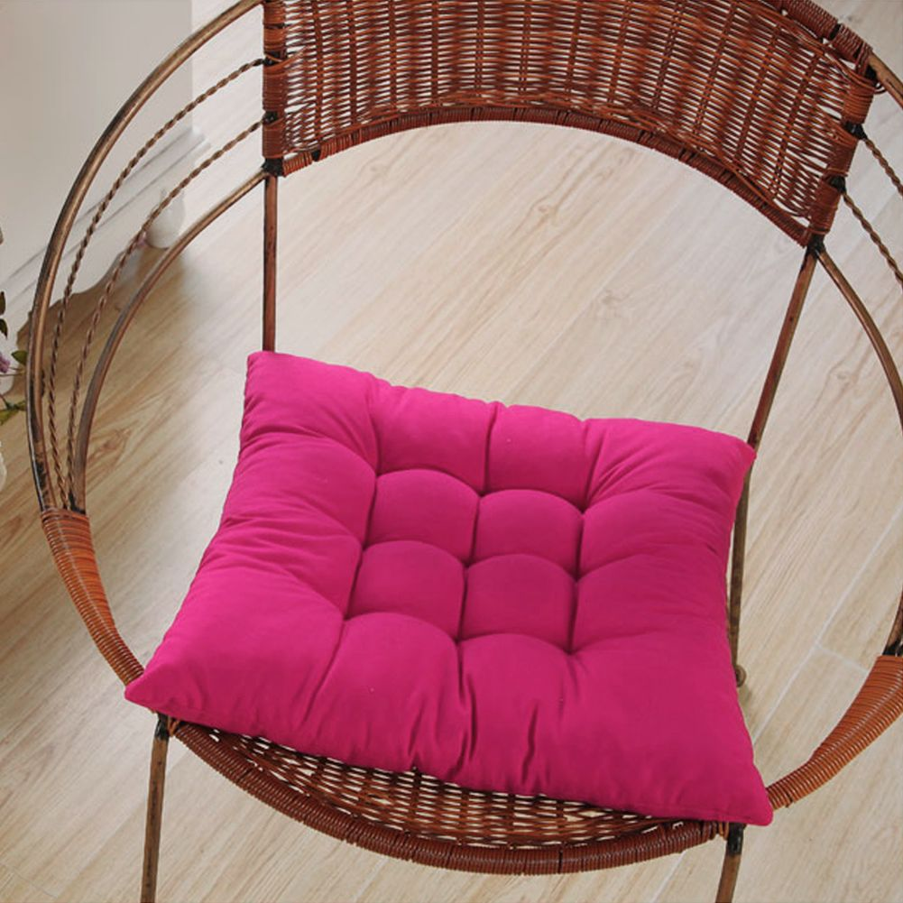 New colourful seat pad dining room garden kitchen chair for Dining room chair cushions