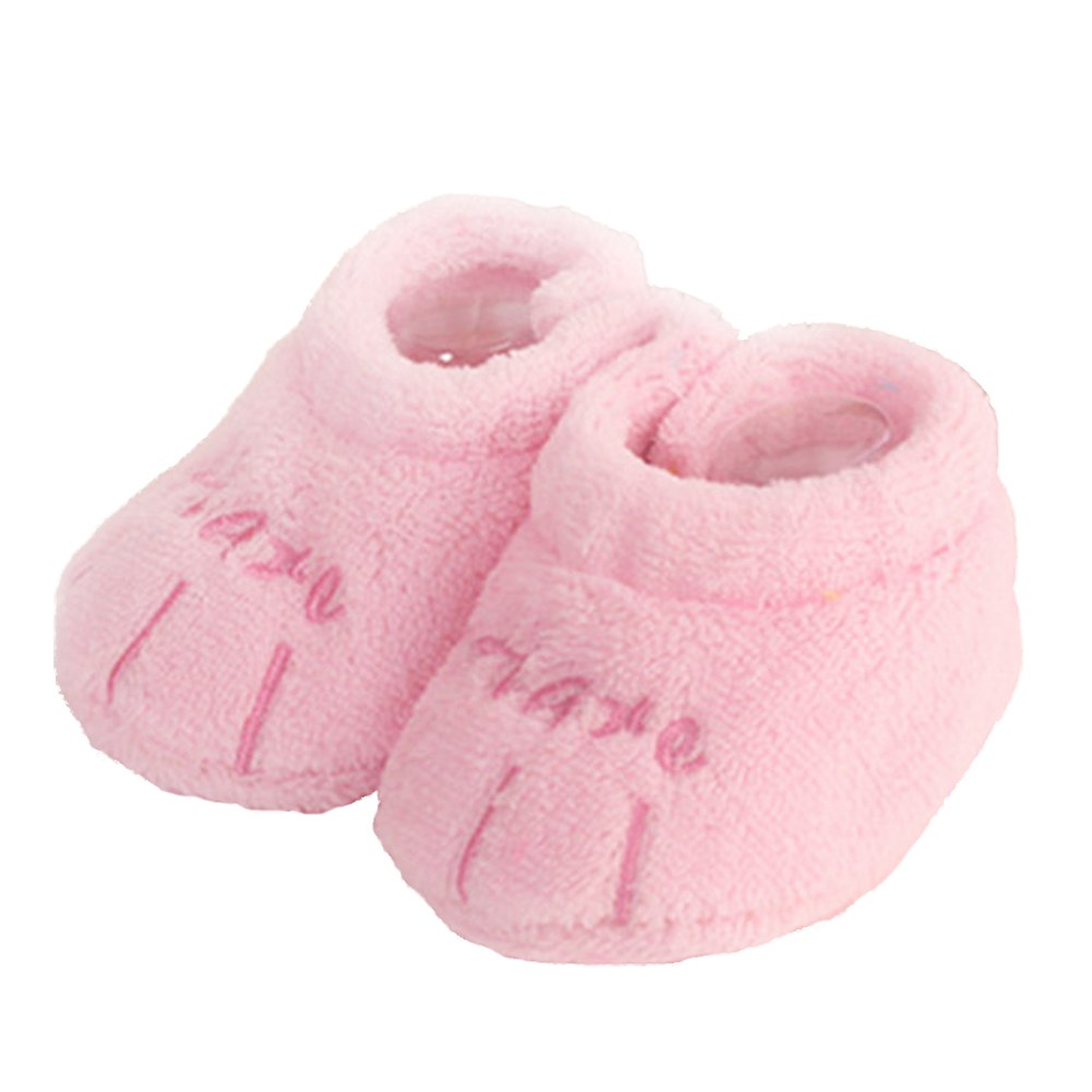 New Baby Boy Girl Infant Shoes Soft Coral Velvet Sole Shoes One ...