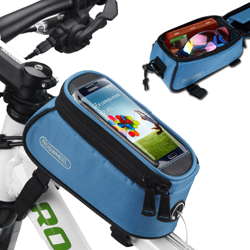 201509: ROSWHEEL CYCLE BIKE BICYCLE FRONT TUBE FRAME POUCH BAG