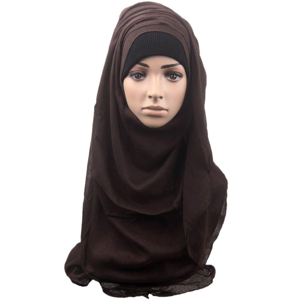 201509: Fashion Women Large Scarf Muslim Shawl Scarf Head Cover