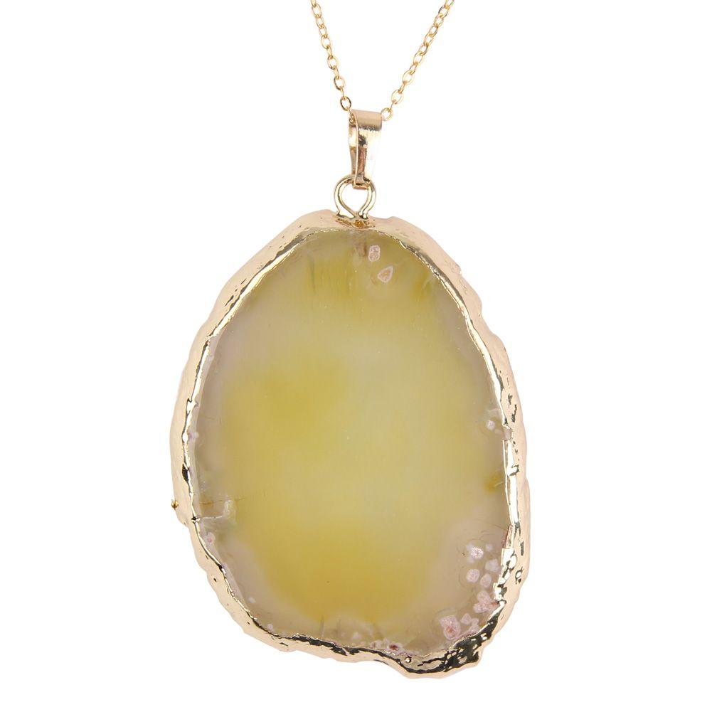 Natural Quartz Healing Point Chakra Agate Slice Gemstone ...