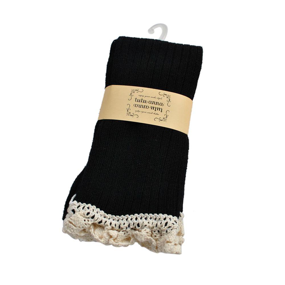 crochet lace knee high trim boot socks