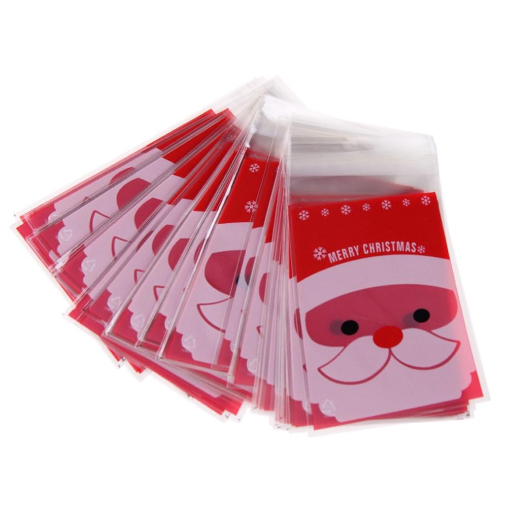 Pcs merry xmas santa cellophane cello bags candy