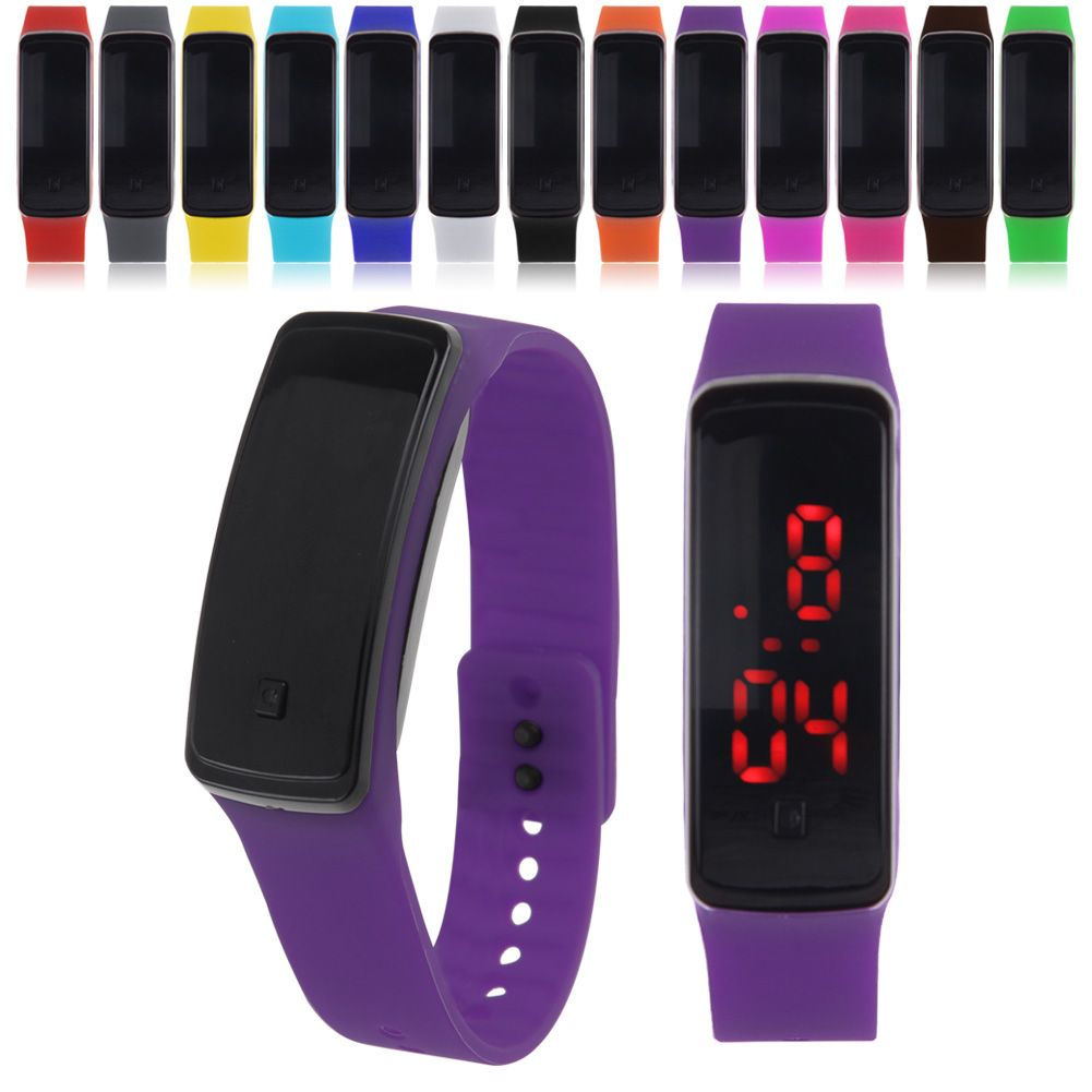 LED Wrist Watch Sport Running Silicone Digital Men Women ...