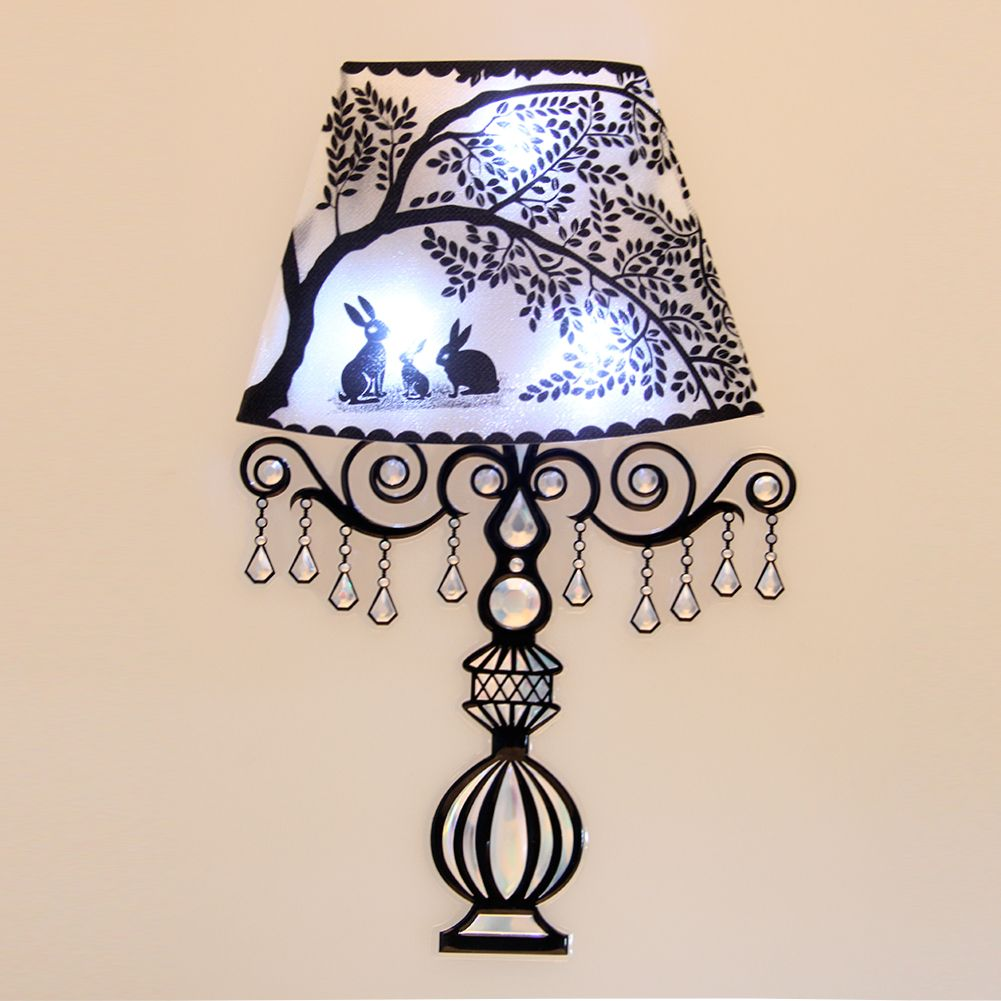 Sound Sensor 3x LED Lights Wall Sticker Decal Home Room Decoration Night Lamp eBay