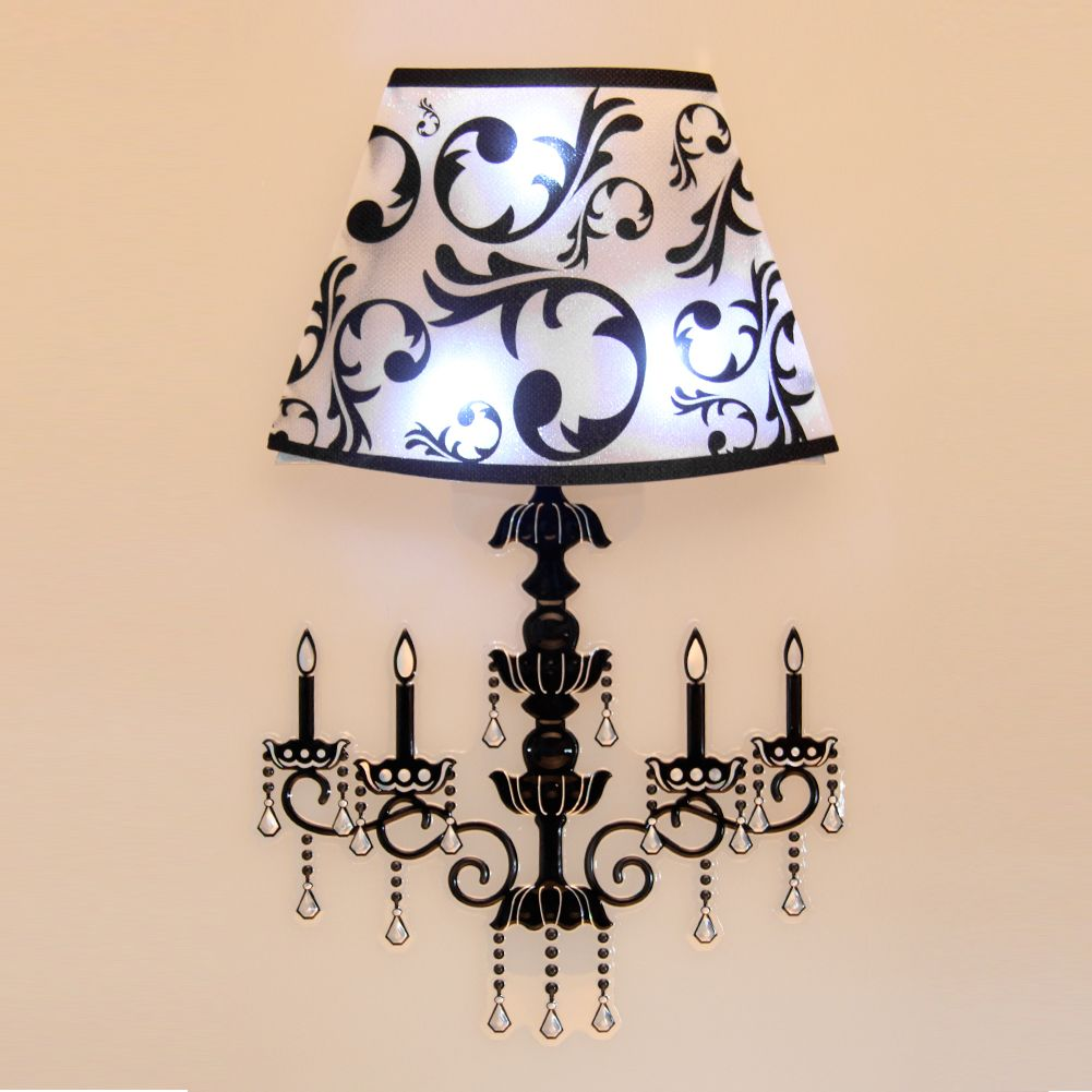 Wall Decor Lamps : New arrive sound sensor led lights wall sticker night