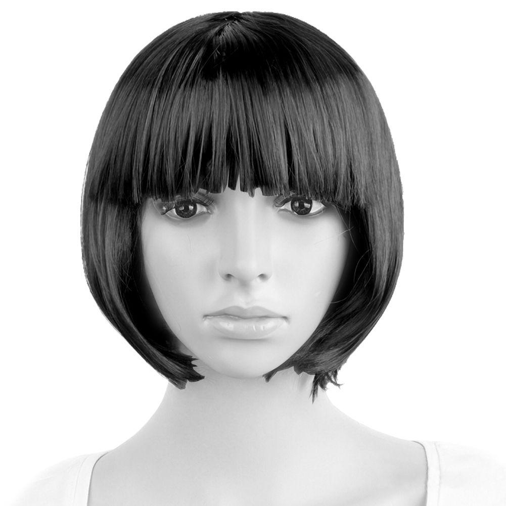 femme fille multicolore perruque coiffure bob faux cheveux. Black Bedroom Furniture Sets. Home Design Ideas