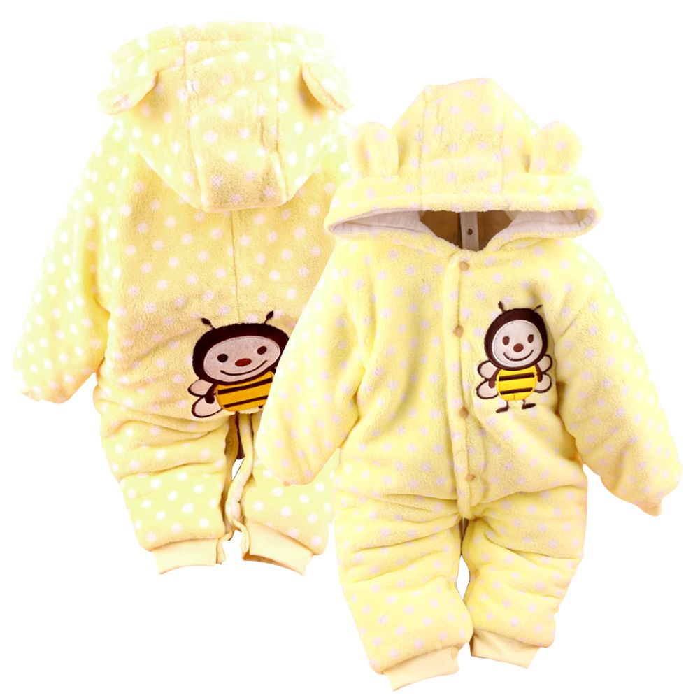 Cotton Newborn Baby Clothes Girls Boys Winter Thick Warm Jumpsuit Coverall Set