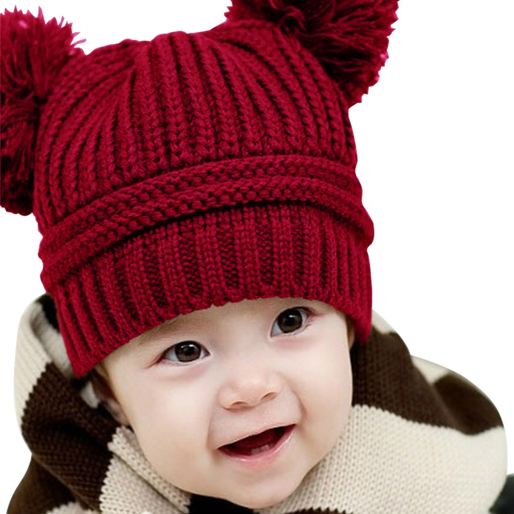 Fashion Sweet Baby Kids Boys Girls Toddler Knitted Crochet ...