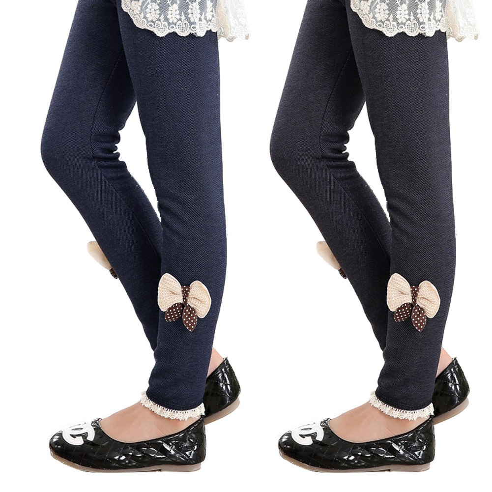 Kids' Girls' Warmer Pants Thick Fleece Lined Leggings Children's ...