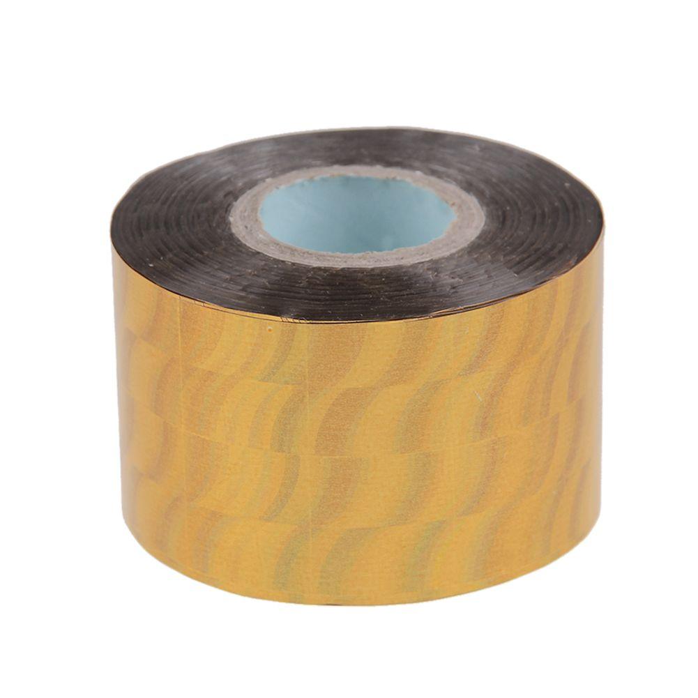 4cm X 120m Nail Art Transfer Wrap Foil Sticker Glitter Tip Decal Decoration DIY