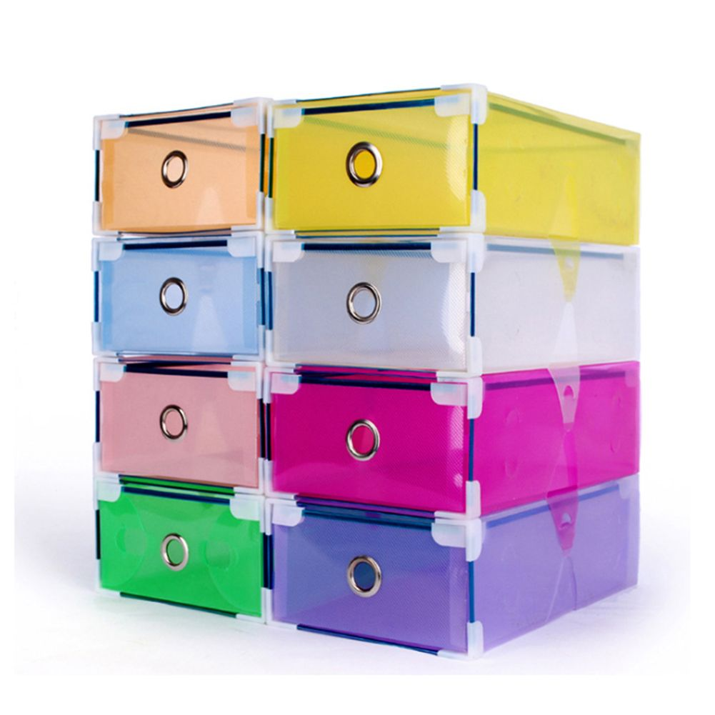 stackable clear plastic shoe box home storage boxes office. Black Bedroom Furniture Sets. Home Design Ideas