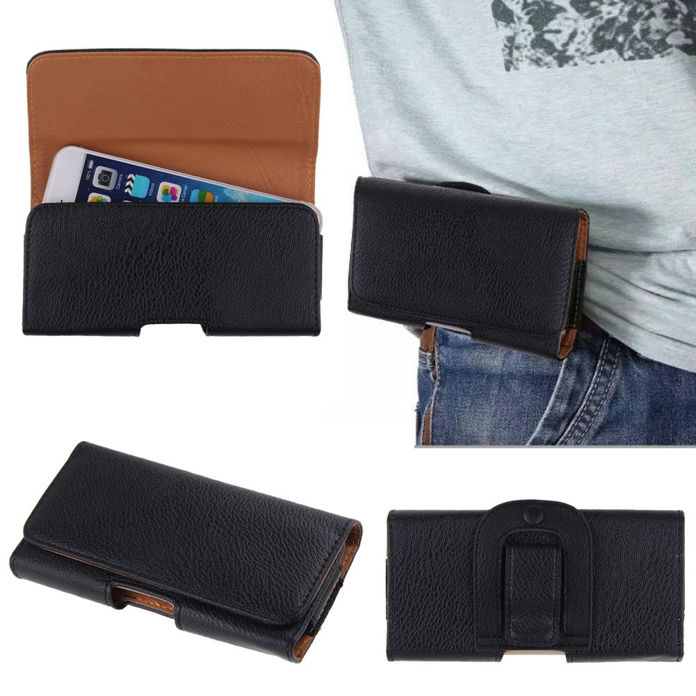 Horizontal-Leather-Case-Cover-Pouch-Holster-w-Belt-Clip-for-Various-Cell-Phones