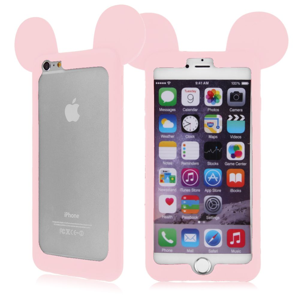 Coque etui housse bumper silicone case mickey mouse for Housse iphone 6 s plus