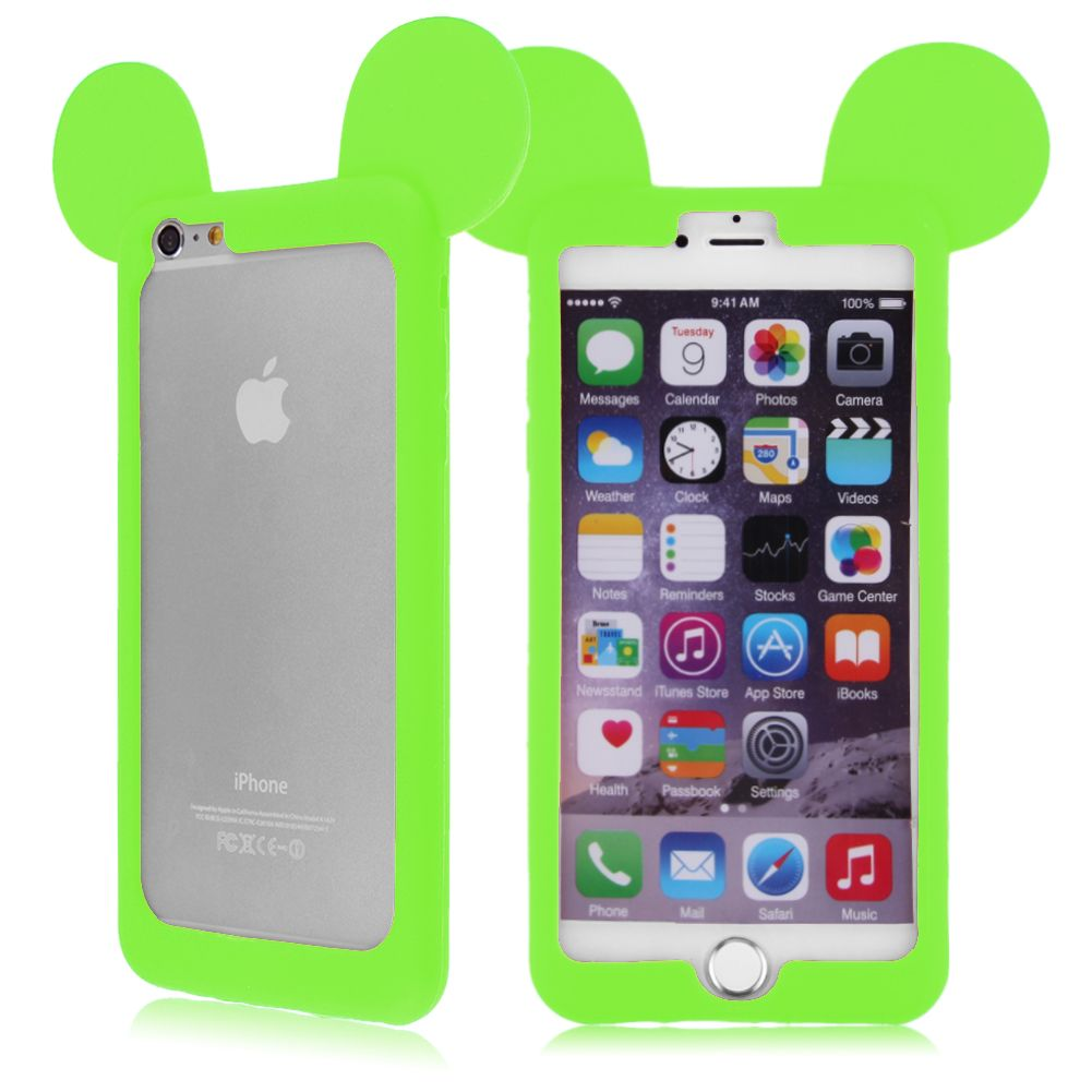 Coque etui housse bumper silicone case mickey mouse for Etui housse iphone 4