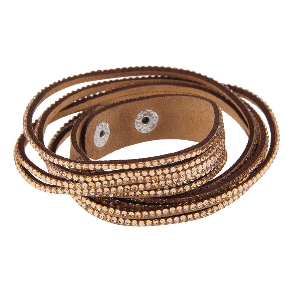 new unisex leather wrap wristband bracelet cuff