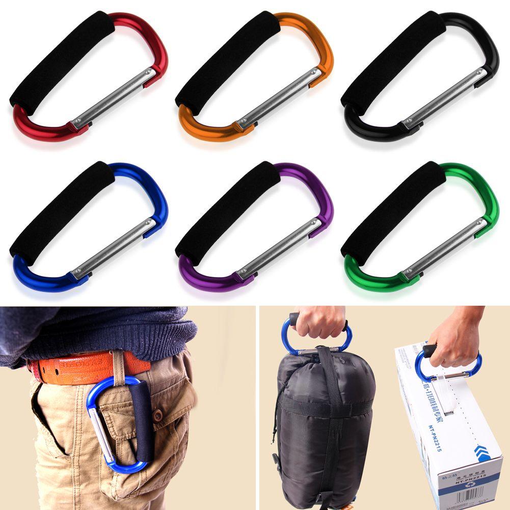 Pram Pushchair Shopping Bag Hook Carabiner Large D Ring Buggy Mummy Clip 9KPTUK