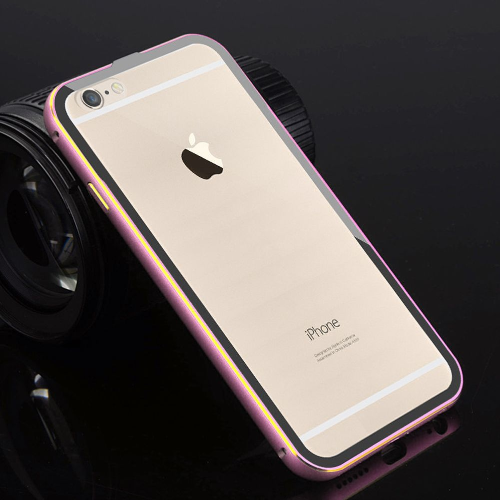 aluminum metal bumper clear back case cover for iphone 5 5s 6 4 7 6 plus 5 5 ebay. Black Bedroom Furniture Sets. Home Design Ideas