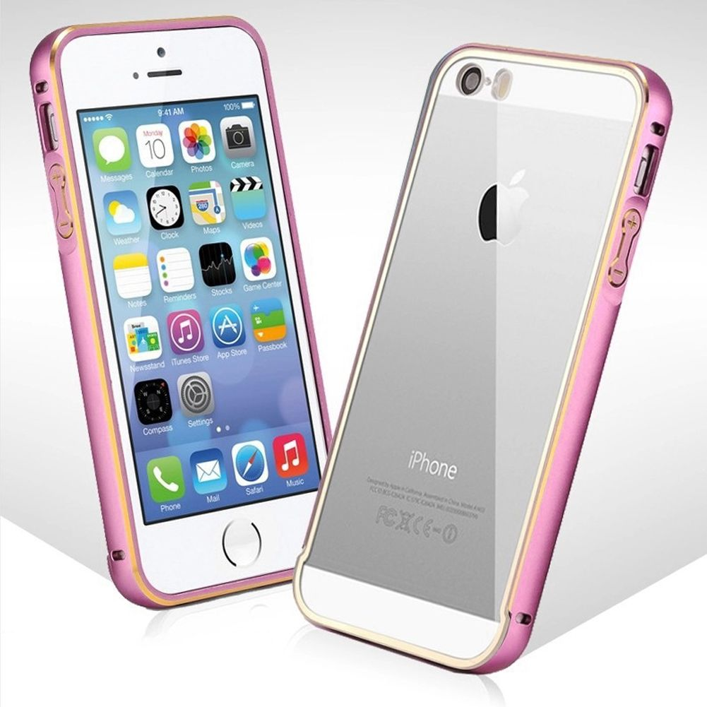 """Aluminum Metal Bumper Clear Back Case Cover for iPhone 5 5S 6 4.7"""" 6 Plus 5.5"""" 