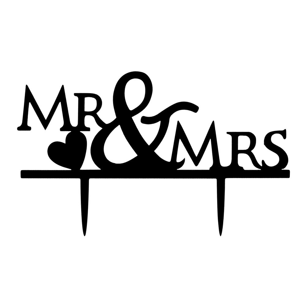 Acrylic Mr & Mrs Bride and Groom Wedding Couple Cake ...