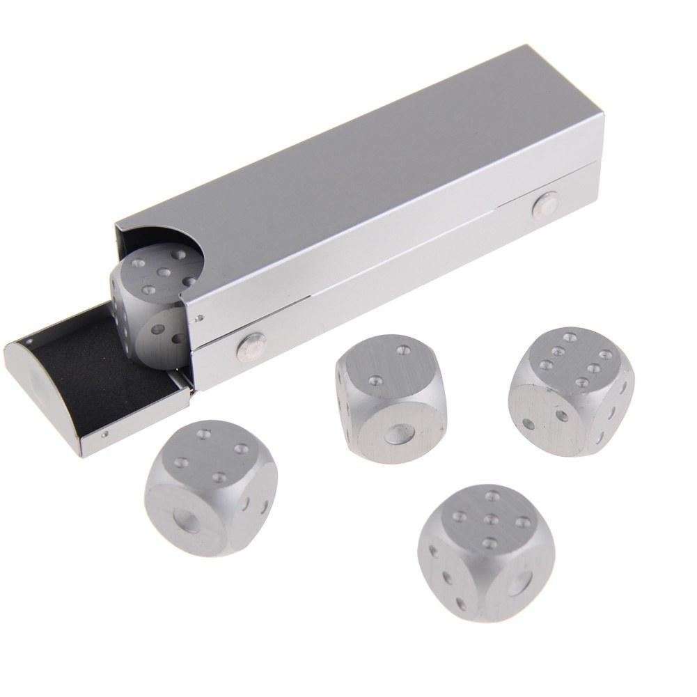 Solid Aluminum Pipe : Pcs aluminum engraved solid metal dice tube case xmas