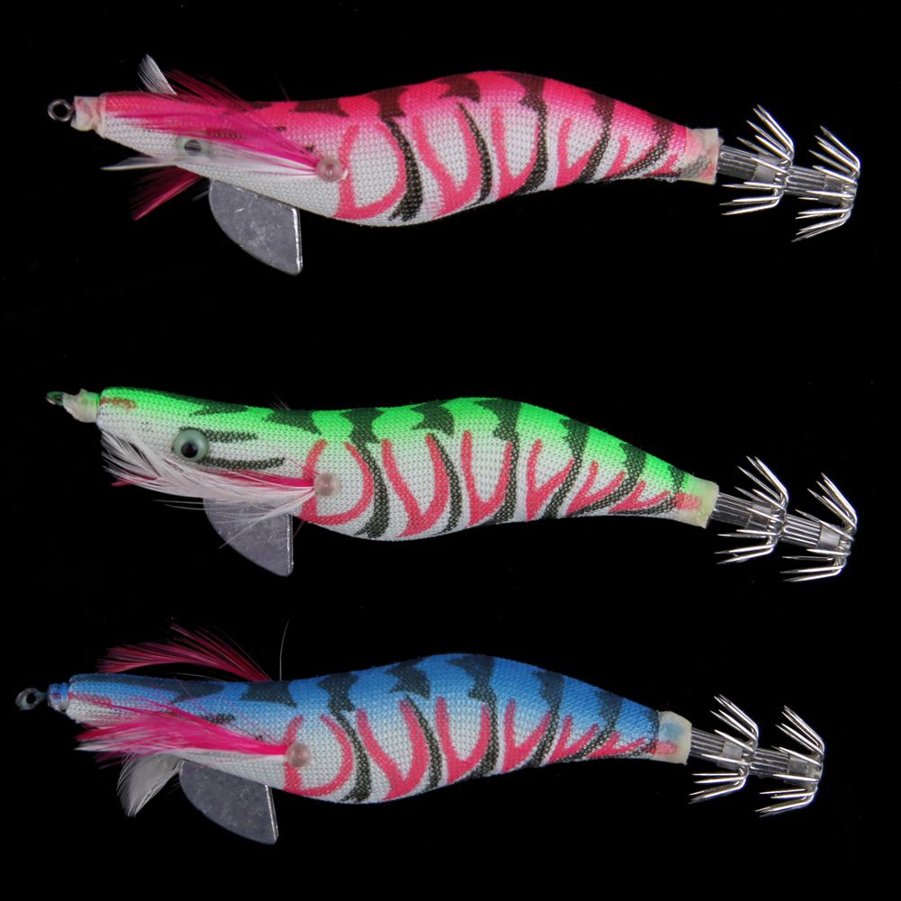 New Glow In Dark Luminous Fishing Lures Baits Squid Egi