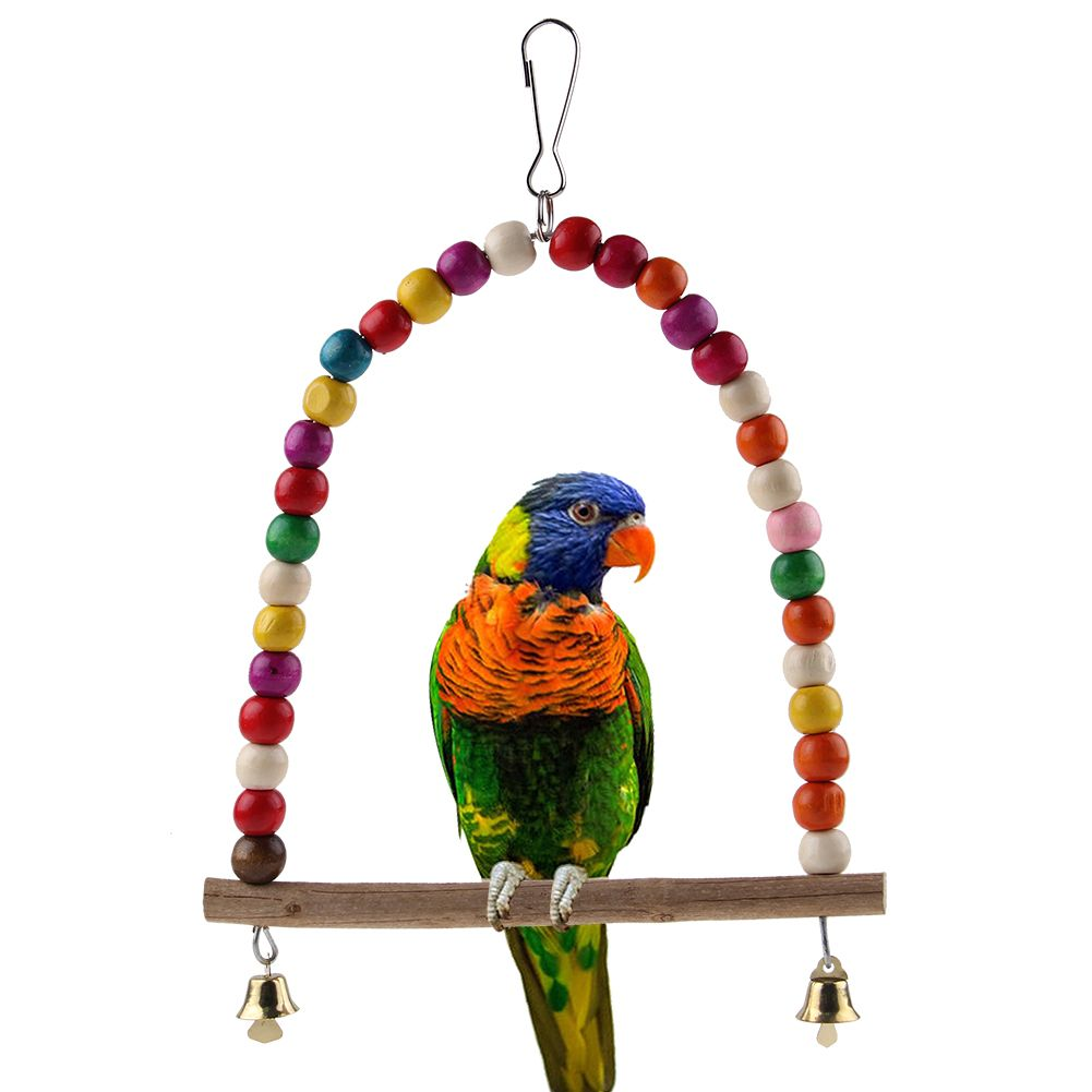 Bird Cage Toys : Colorful bird toy parrot swing cage toys for parakeet