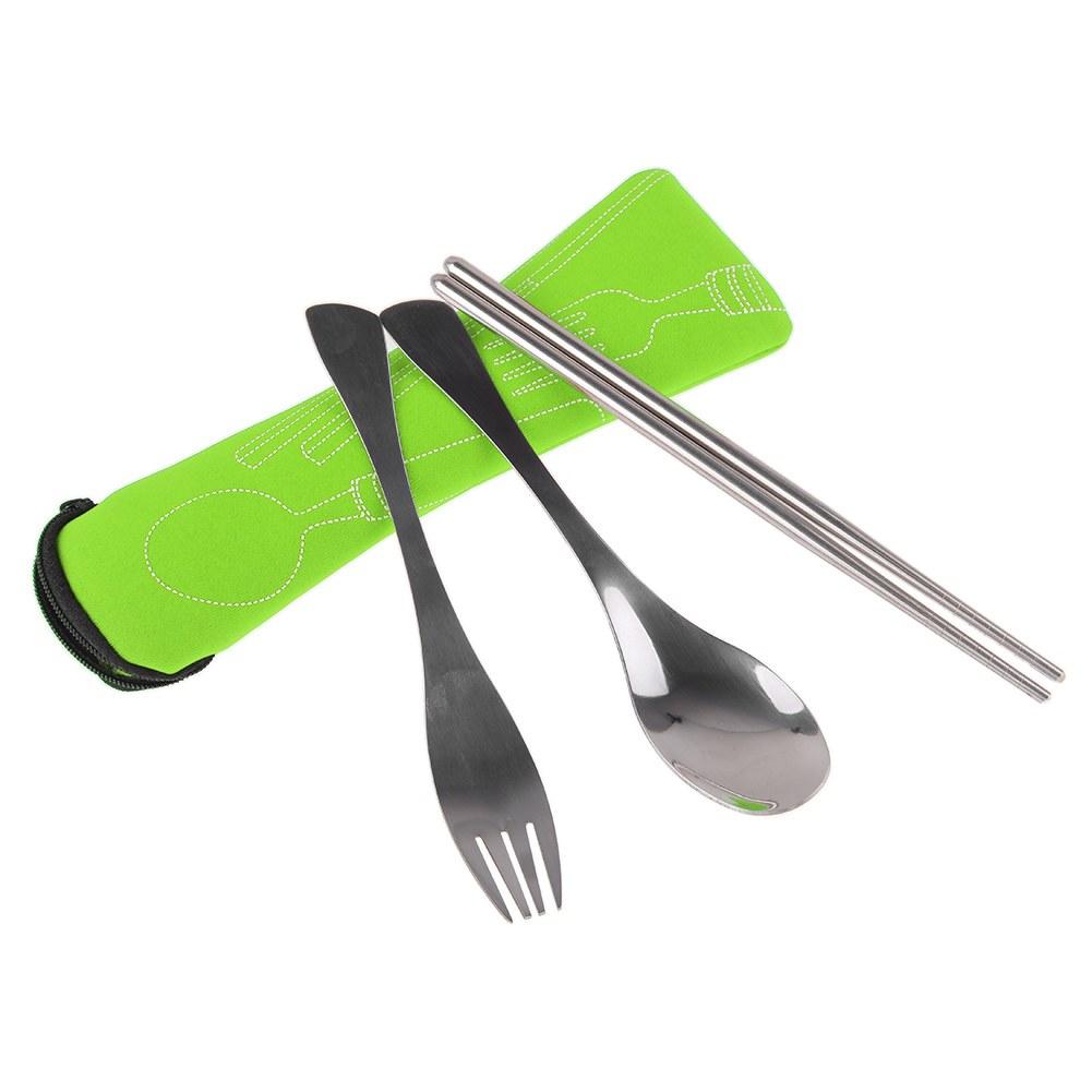 couverts set couteau fourchette cuill re camping pique nique ext rieure with bag ebay. Black Bedroom Furniture Sets. Home Design Ideas