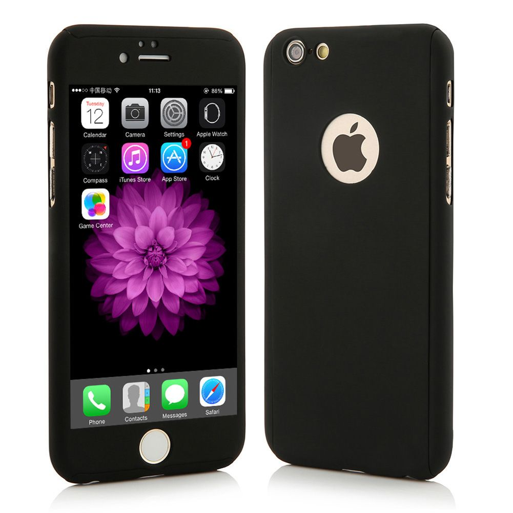 luxury hybrid 360 full protection hard case tempered glass for iphone 6s plus ebay. Black Bedroom Furniture Sets. Home Design Ideas