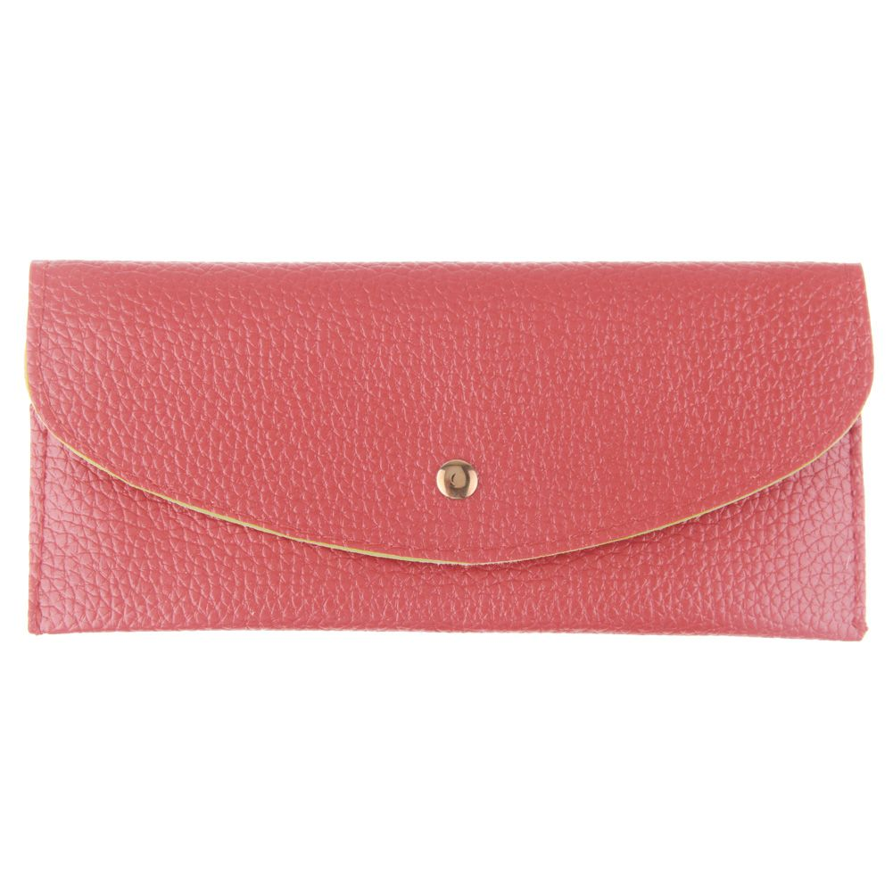 long purse wallet red