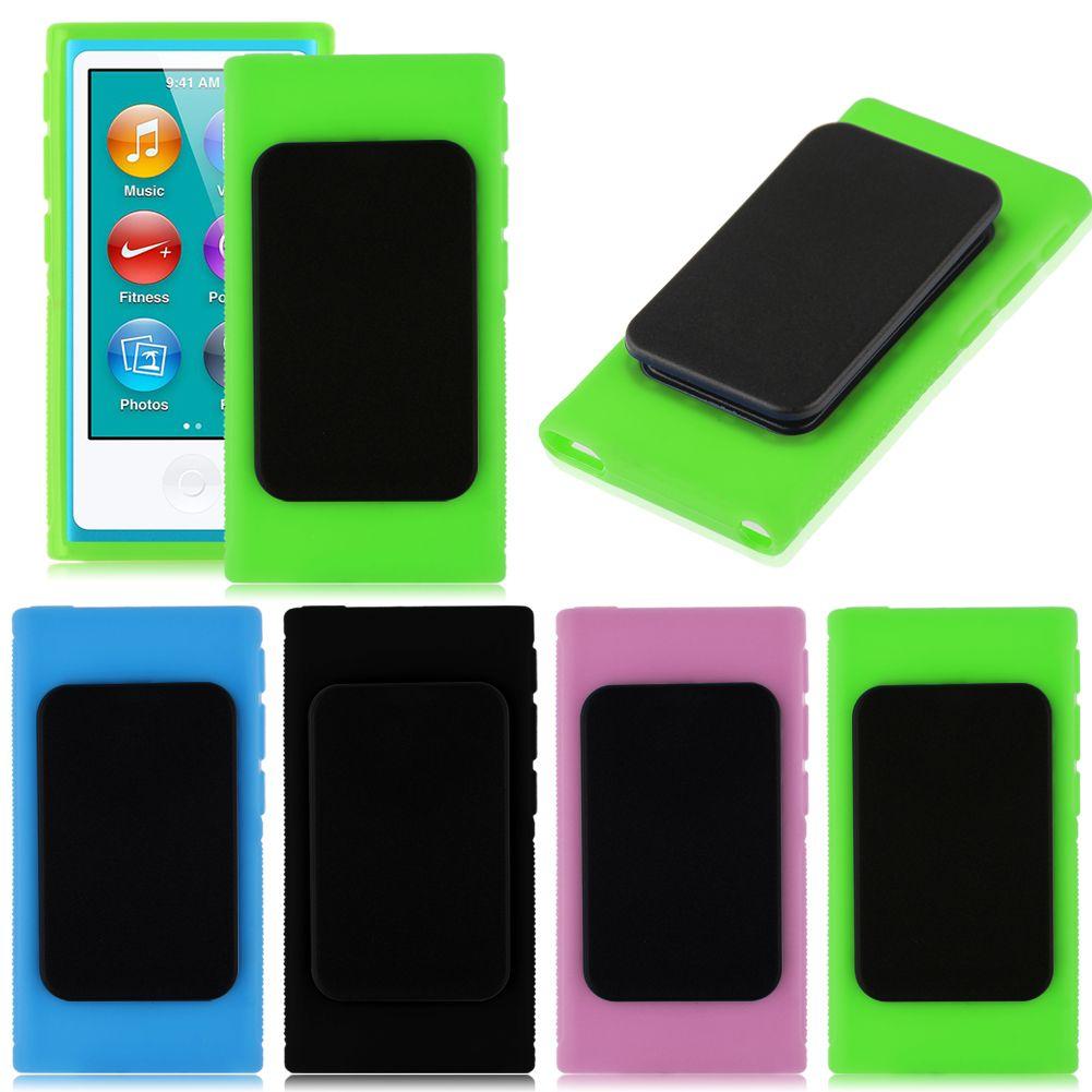 belt clip rubber tpu gel skin case cover for apple ipod. Black Bedroom Furniture Sets. Home Design Ideas