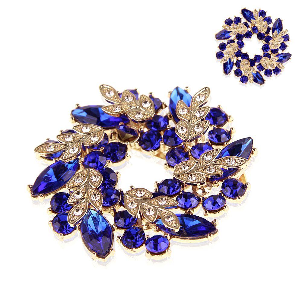 Vintage Gold Alloy Rhinestone Crystal Flower Wedding ...