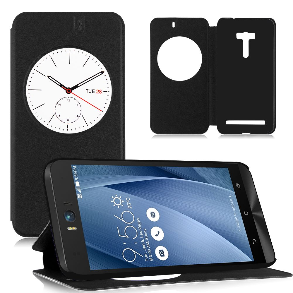 Flip PU Leather Window Case Smart Cover Stand For Asus