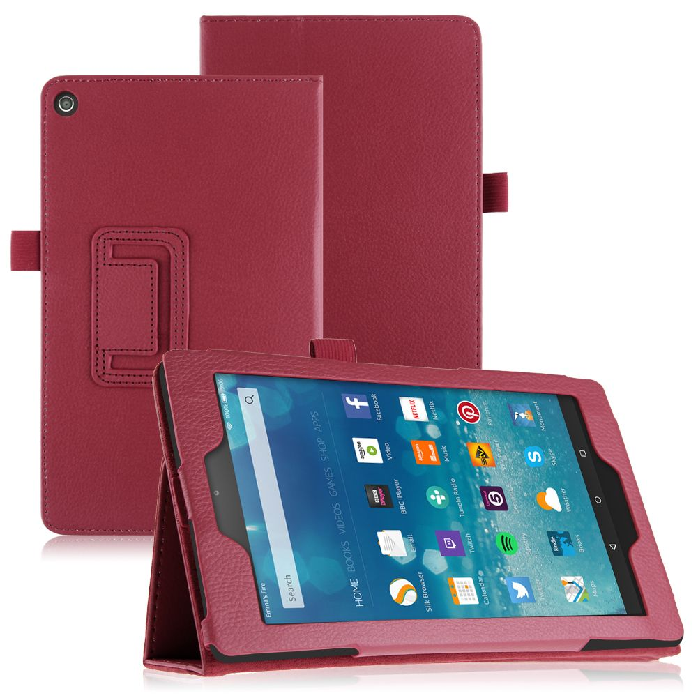 Pu leather case cover stand for amazon kindle fire 7 fire hd 8 fire hd 10 2015 ebay - Fundas kindle amazon ...