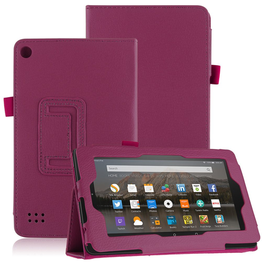 For new amazon kindle fire 7 2015 tablet magnetic flip for Amazon casa
