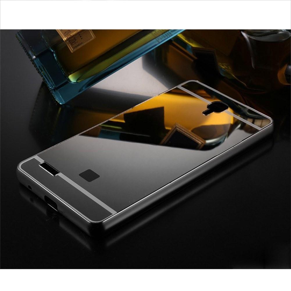 Aluminum metal bumper mirror pc back case cover for xiaomi for Mirror xiaomi to pc