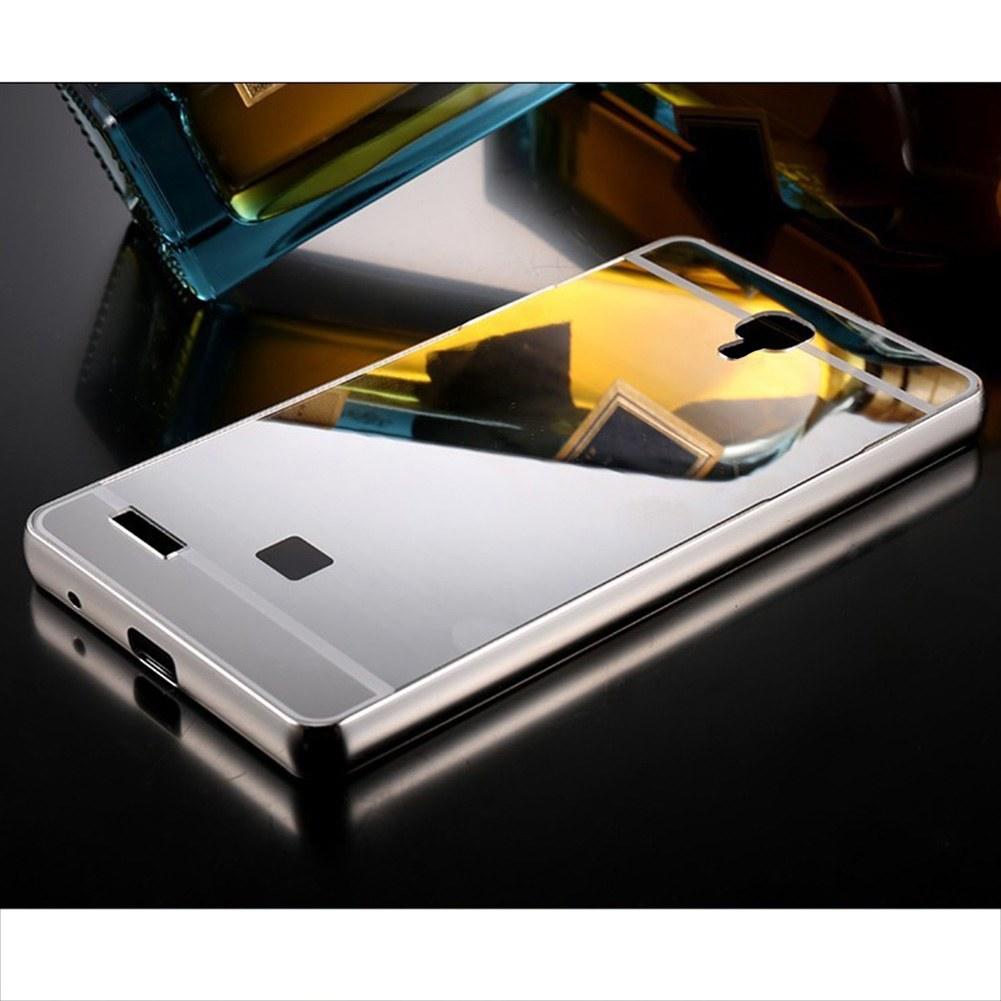 Aluminum metal bumper mirror pc case cover for xiaomi for Mirror xiaomi to pc