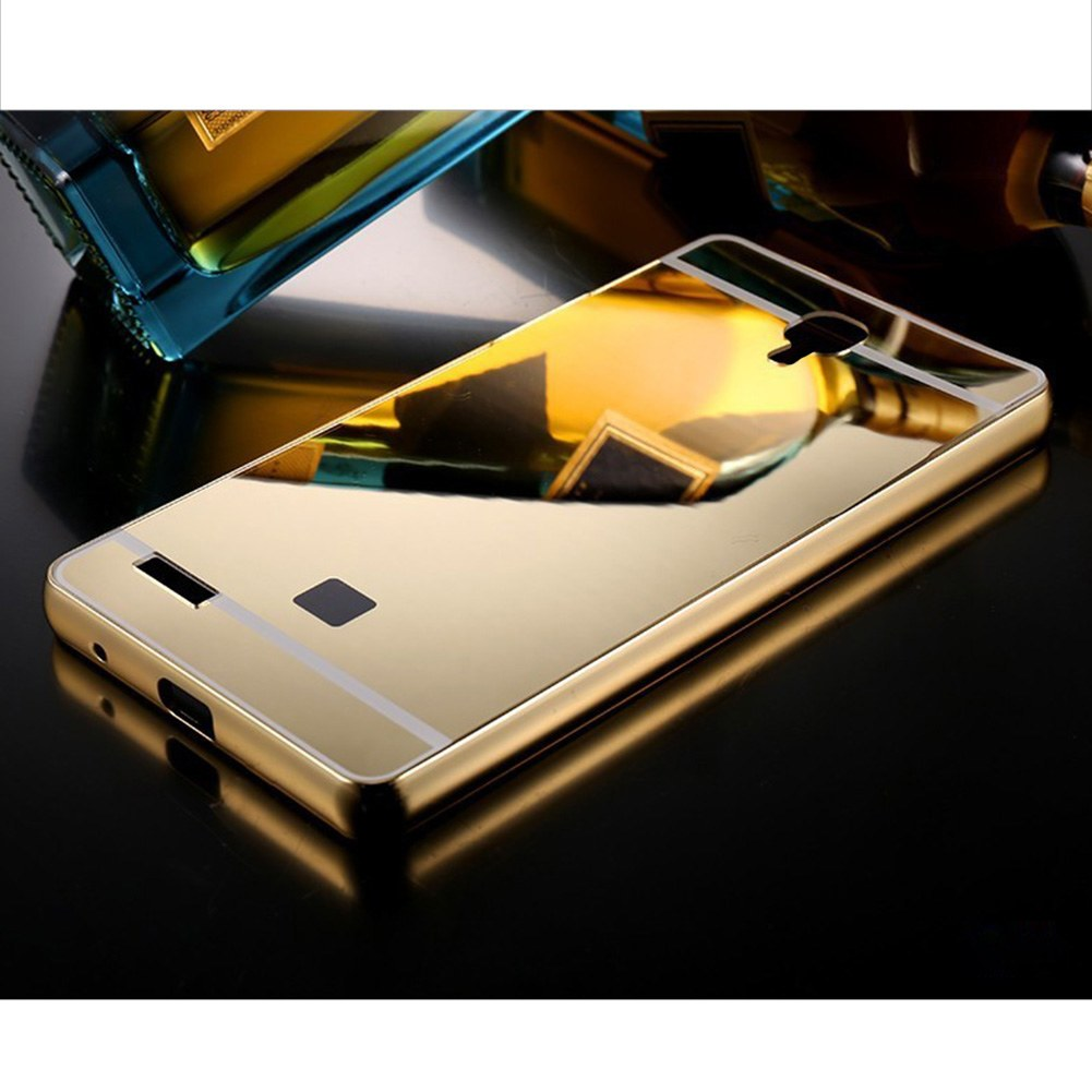 Bumper Metal Case Untuk Xiaomi Redmi Note 1 Gold Daftar Update Mirror Source Aluminum Pc Back Cover For