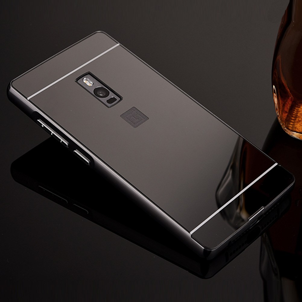 For oneplus 2 two luxury aluminum metal bumper mirror pc for Phone mirror