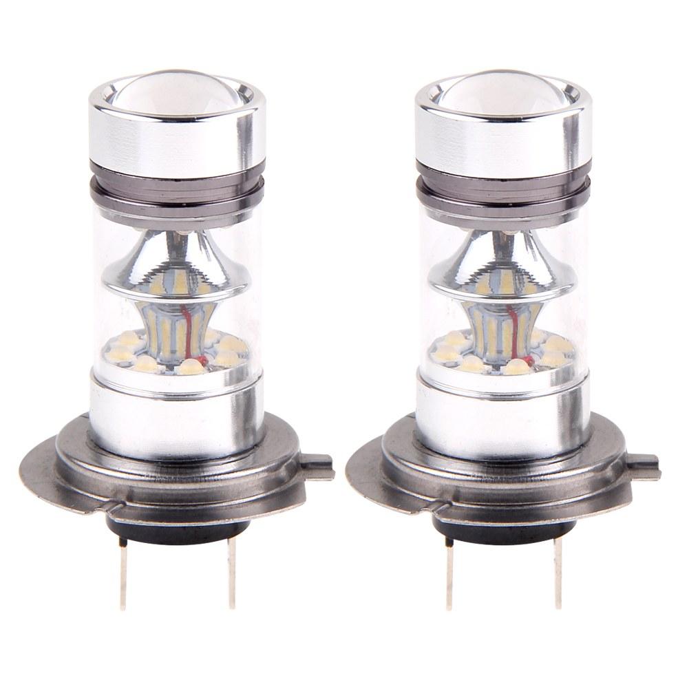 2x h7 8000k 100w led lamp 20 smd projector fog driving drl. Black Bedroom Furniture Sets. Home Design Ideas