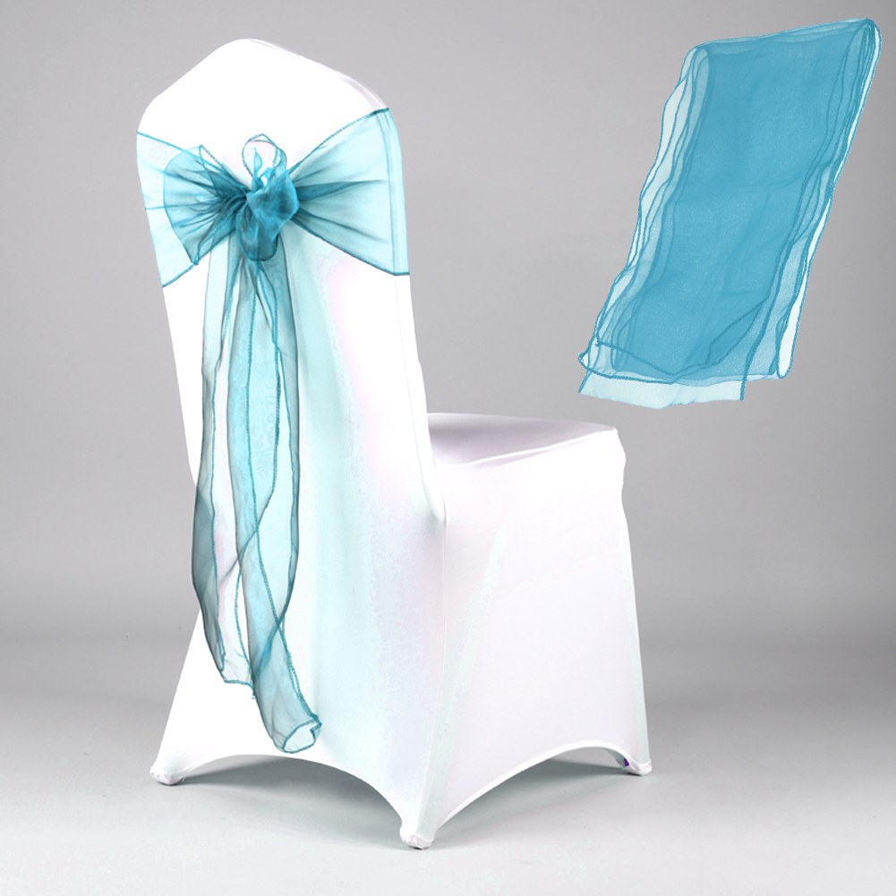 New Organza Chair Cover Sashes Wedding Party Banquet Bowknot Decoration