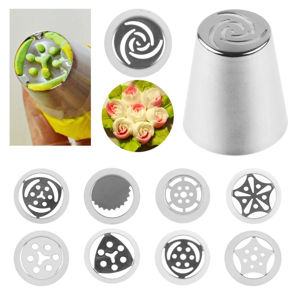 Russian Flowers Icing Piping Tube Nozzles Cake Decorating ...