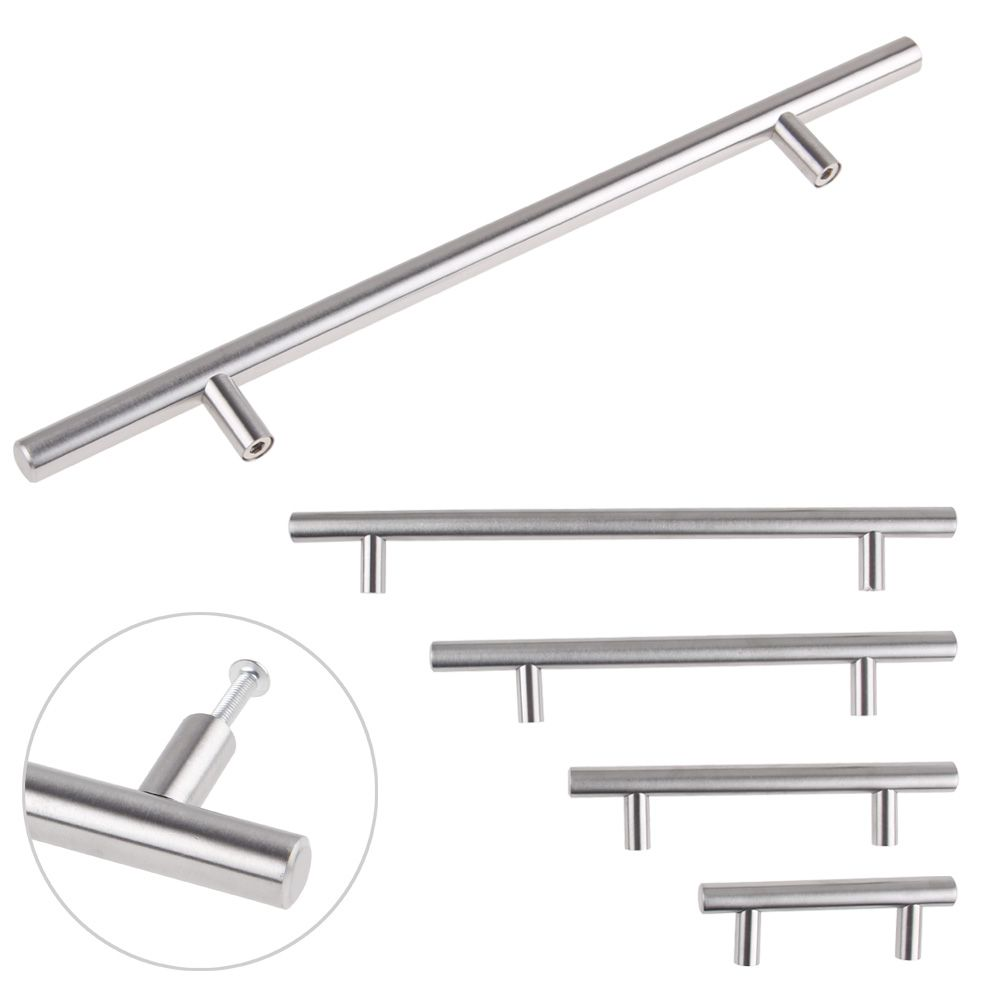 Door Handles Kitchen Cabinets: Stainless Steel T Bar Kitchen Cabinet Cupboard Drawer