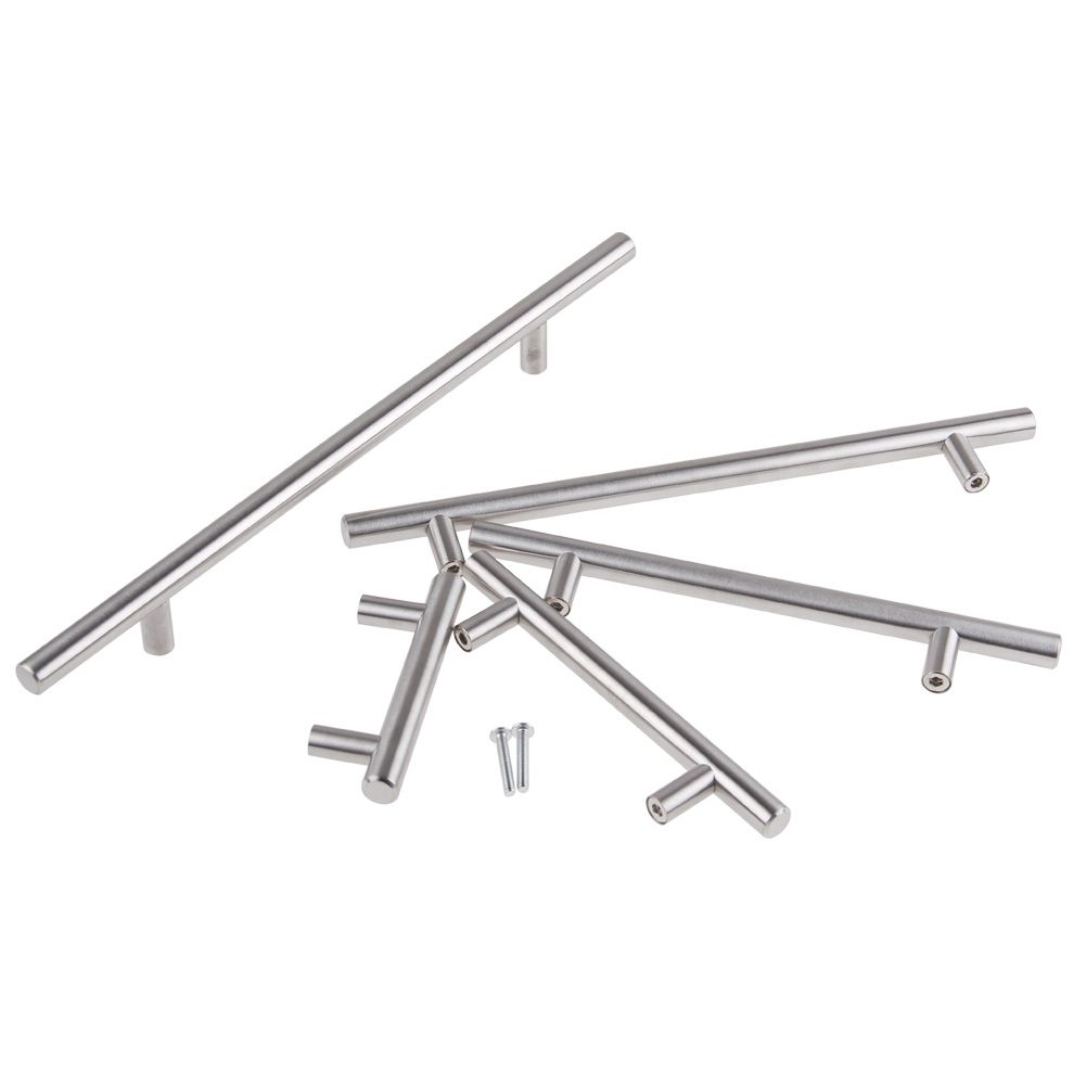 Stainless Steel Kitchen Cabinet Handles And Knobs: Stainless Steel T Bar Kitchen Cabinet Cupboard Drawer